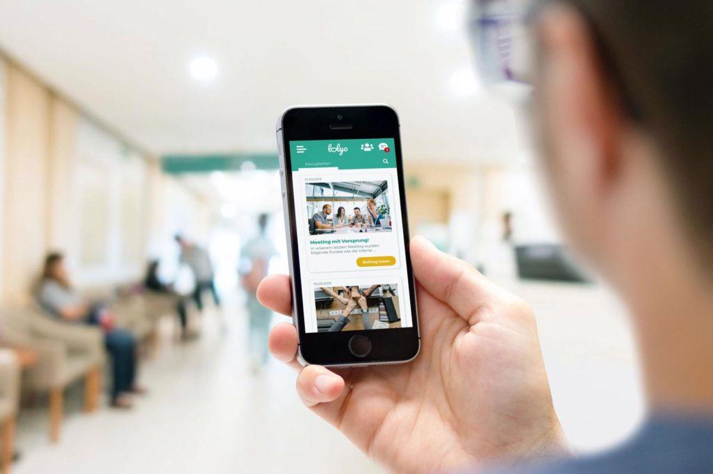 LOLYO Mitarbeiter-App - Arbeitnehmer vernetzen sich