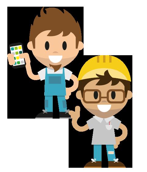 Mitarbeiter-App für die Industrie