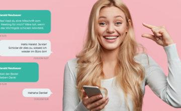 Chat-Funktion der LOLYO Mitarbeiter-App