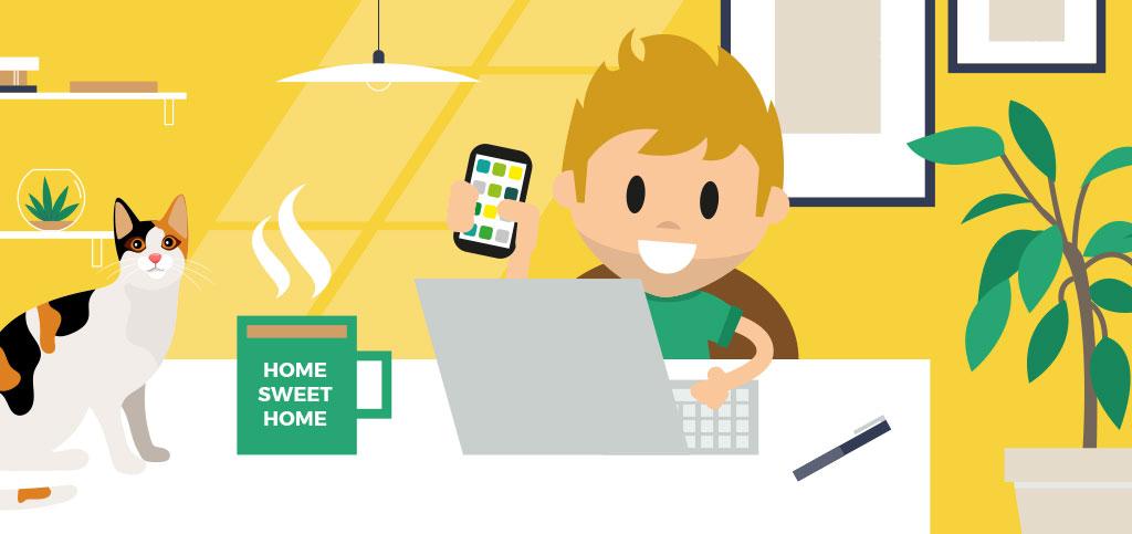 LOLYO Mitarbeiter-App fuer das Homeoffice