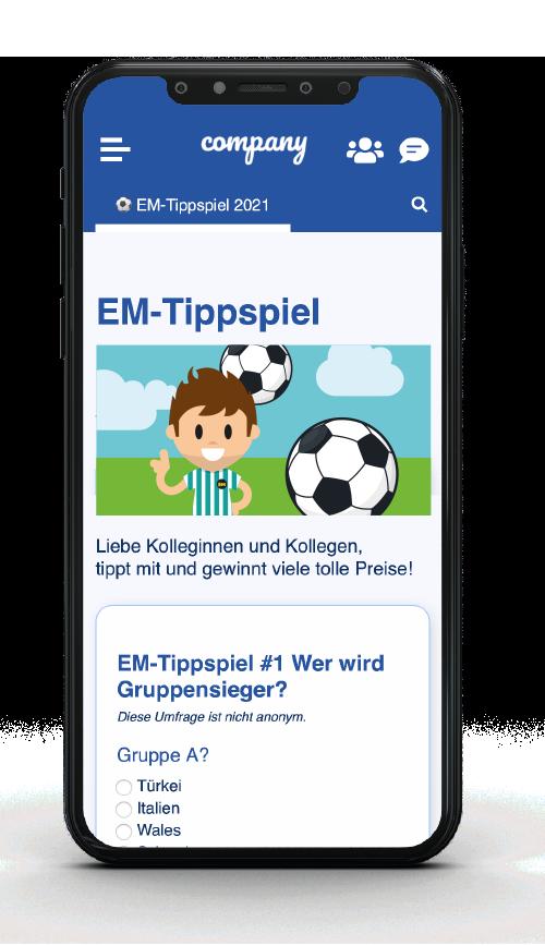 Mitarbeiter-App Tippspiel