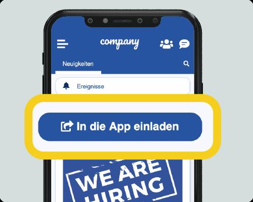 Kolleg*innen in die Mitarbeiter-App einladen