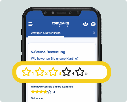 LOLYO Mitarbeiter-App 5-Sterne Bewertung