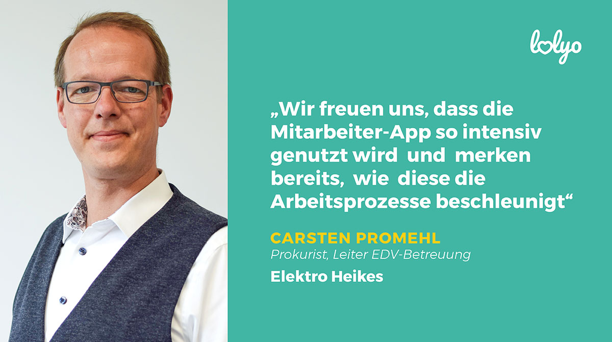 Carsten Promehl Elektro Heikes Mitarbeiter-App