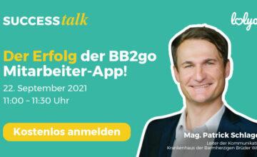 LOLYO Success talk bb2go Mitarbeiter-App Patrik Schlager Barmherzige Brüder Wien