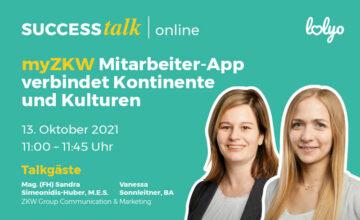 LOLYO SUCCESS talk : myZKW Mitarbeiter-App verbindet Kontinente und Kulturen